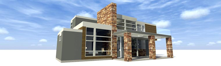 Contemporary House Plan 70817