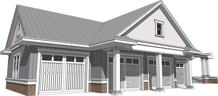 Cottage Craftsman Traditional Elevation of Plan 70818