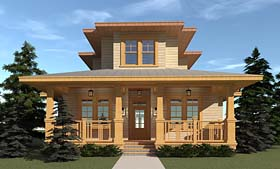 Bungalow Cottage Country Craftsman House Plan 70820 Elevation