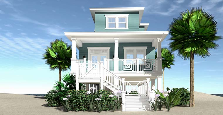 Coastal, Contemporary, Cottage, Craftsman, Southern House Plan 70824 with 3 Beds, 4 Baths Elevation