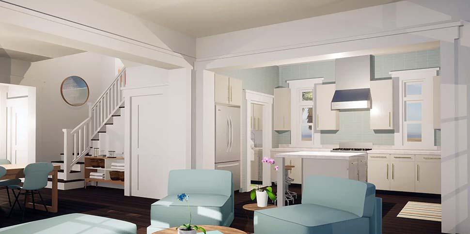 Coastal Craftsman House Plan 70826