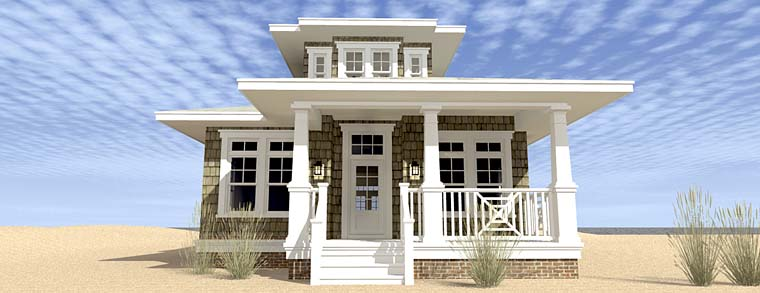 Bungalow Coastal Cottage Craftsman House Plan 70830 Elevation