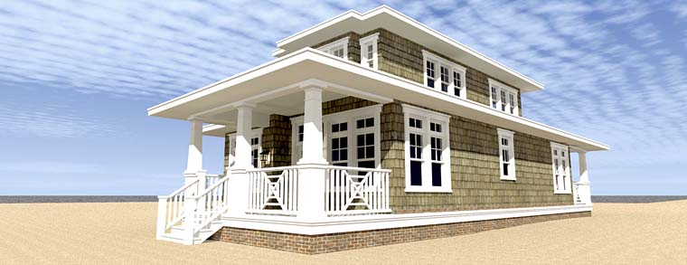 Bungalow Coastal Cottage Craftsman House Plan 70830
