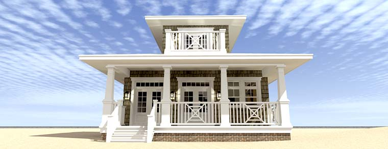 Bungalow Coastal Cottage Craftsman House Plan 70830 Rear Elevation