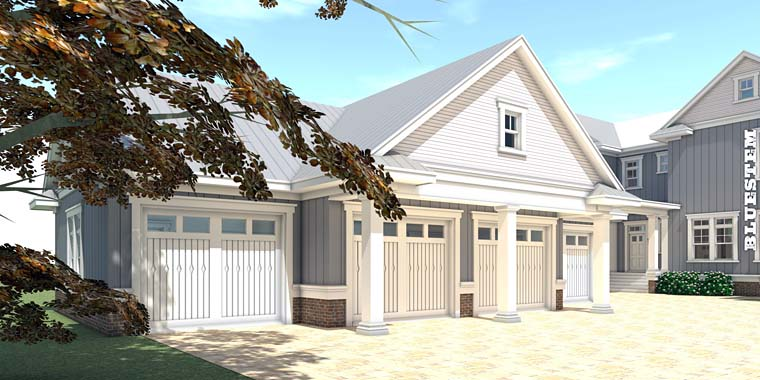 Country, Farmhouse, Southern, Traditional House Plan 70831 with 5 Beds, 5 Baths, 4 Car Garage Rear Elevation