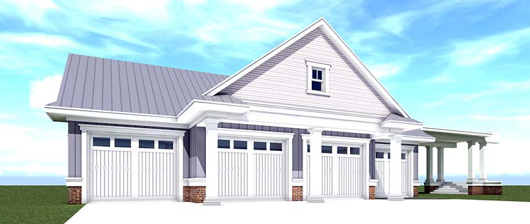 Country Farmhouse Southern Traditional Garage Plan 70832 Elevation