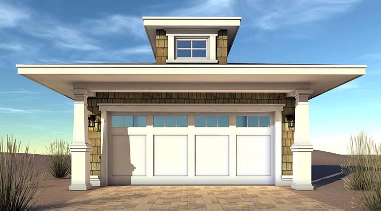 Coastal Craftsman Garage Plan 70834 Elevation
