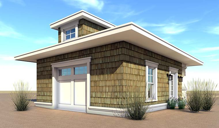 Coastal Craftsman Garage Plan 70834 Rear Elevation