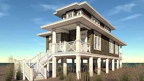 Craftsman , Coastal , Bungalow House Plan 70839 with 2 Beds, 2 Baths Elevation