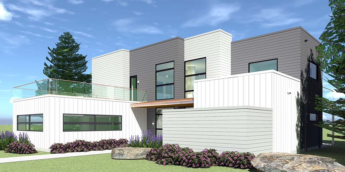 Contemporary, Modern House Plan 70850 with 4 Beds, 4 Baths, 2 Car Garage Picture 1
