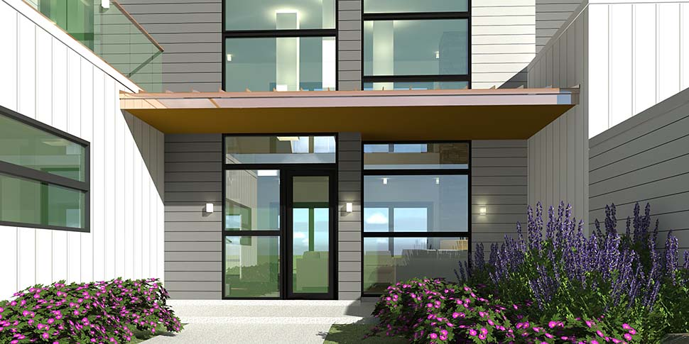 Contemporary, Modern House Plan 70850 with 4 Beds, 4 Baths, 2 Car Garage Picture 3