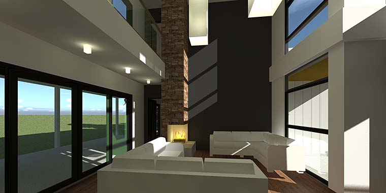 Contemporary, Modern House Plan 70850 with 4 Beds, 4 Baths, 2 Car Garage Picture 5