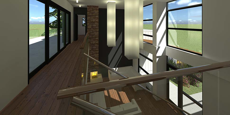Contemporary, Modern House Plan 70850 with 4 Beds, 4 Baths, 2 Car Garage Picture 6