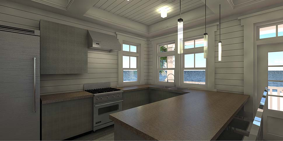 Coastal, Contemporary, Southern House Plan 70852 with 3 Beds, 2 Baths, 2 Car Garage Picture 4