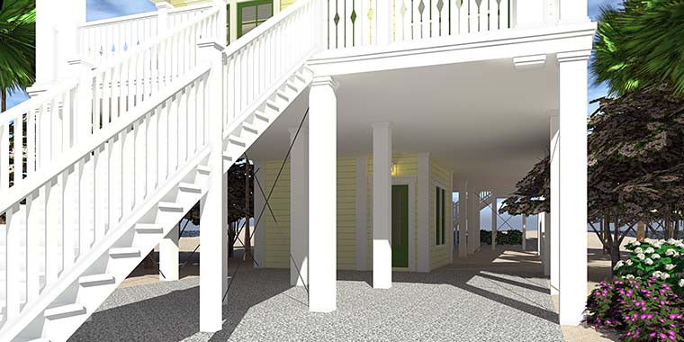 Coastal House Plan 70853 with 4 Beds, 4 Baths, 4 Car Garage Picture 5