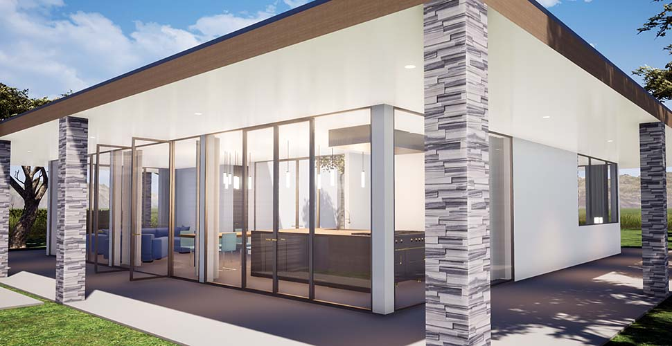 Coastal, Contemporary, Modern House Plan 70857 with 3 Beds, 2 Baths Picture 1