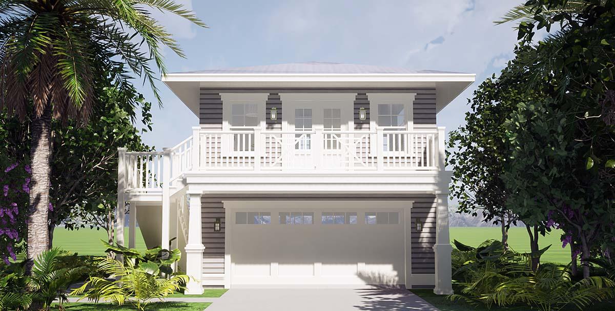 Garage-Living Plan 70858