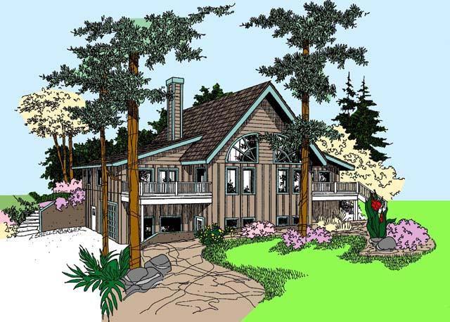 House Plan 71235 Elevation
