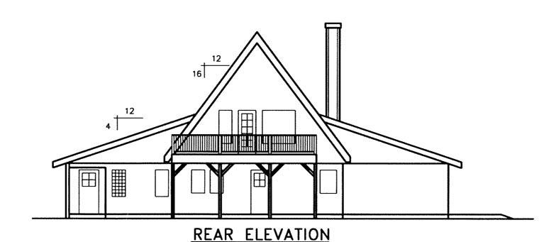 House Plan 71235 Rear Elevation