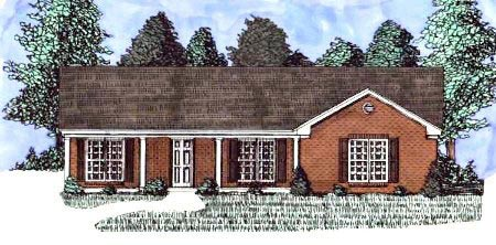 Ranch , Elevation of Plan 71400