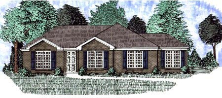 Traditional House Plan 71401 with 3 Beds, 2 Baths Elevation