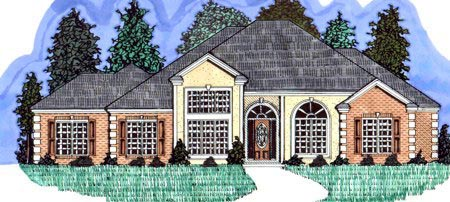 Traditional House Plan 71405 Elevation