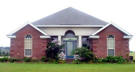 House Plan 71407 | Traditional Style Plan with 1706 Sq Ft, 3 Bedrooms, 2 Bathrooms, 2 Car Garage Elevation