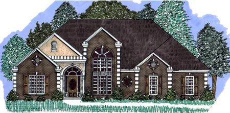 Victorian House Plan 71408 with 3 Beds, 3 Baths, 2 Car Garage Elevation