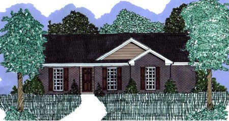 Ranch House Plan 71419 with 3 Beds, 2 Baths Elevation