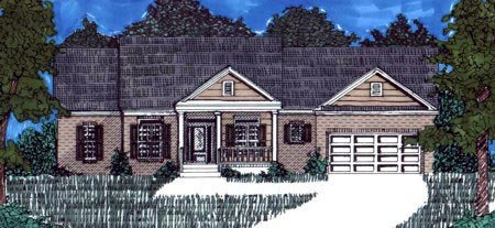 Colonial House Plan 71422 Elevation