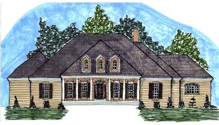 Colonial House Plan 71424 Elevation