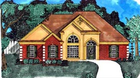 Victorian House Plan 71427 with 3 Beds, 2 Baths, 2 Car Garage Elevation