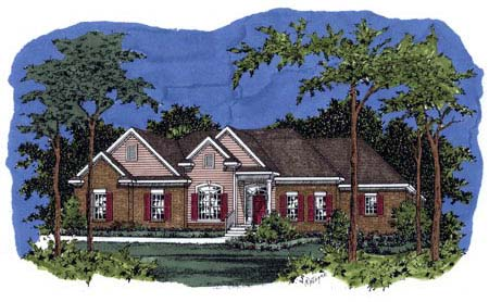 Traditional House Plan 71440 Elevation