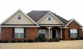 Traditional House Plan 71443 with 4 Beds, 2 Baths, 2 Car Garage Elevation