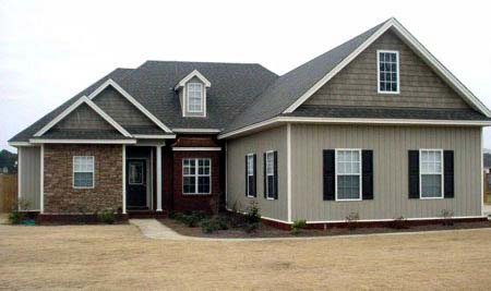 Traditional House Plan 71445 with 3 Beds, 2 Baths, 2 Car Garage Elevation