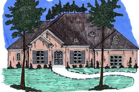 European House Plan 71447 Elevation