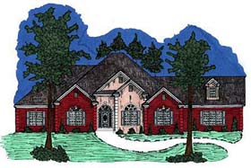 European House Plan 71452 Elevation