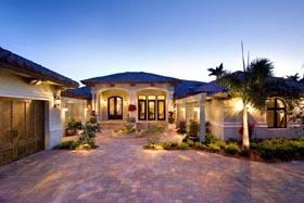 Coastal Contemporary Florida Mediterranean House Plan 71501 Elevation