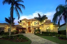 Coastal Contemporary Florida Mediterranean House Plan 71502 Elevation