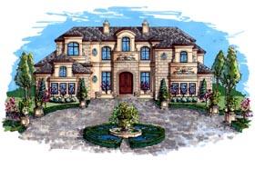 House Plan 71504 | Coastal Contemporary Florida Mediterranean Style Plan with 8001 Sq Ft, 5 Bedrooms, 6 Bathrooms, 3 Car Garage Elevation