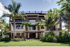 Florida House Plan 71511 with 4 Beds, 5 Baths, 3 Car Garage Elevation