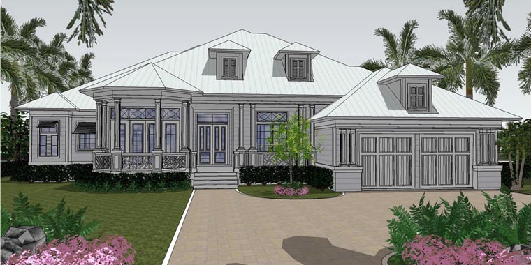 Florida House Plan 71512 Elevation