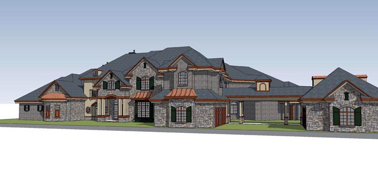 Traditional House Plan 71513 with 6 Beds, 8 Baths, 4 Car Garage Elevation