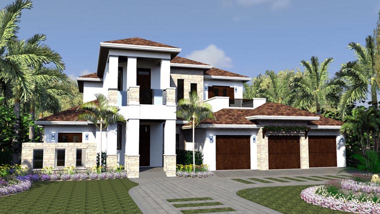 Florida House Plan 71515 Elevation