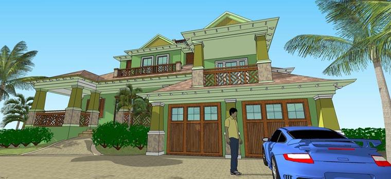 Florida House Plan 71516 Elevation
