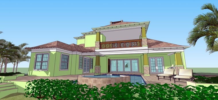 Florida House Plan 71516 Rear Elevation
