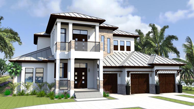 Florida House Plan 71517 Elevation