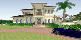 Florida House Plan 71518 with 4 Beds, 5 Baths, 3 Car Garage Elevation