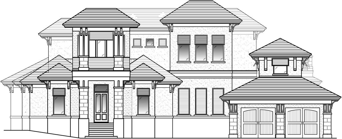 Florida House Plan 71518 with 4 Beds, 5 Baths, 3 Car Garage Picture 1