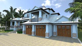 Florida House Plan 71520 Elevation